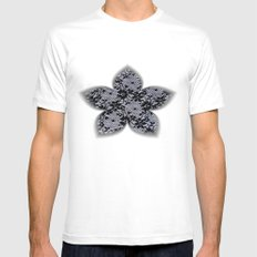 Black Lace White MEDIUM Mens Fitted Tee