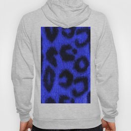 Spotted Leopard Print Blue Hoody