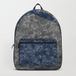 Blue gray abstract pattern marble . Backpack