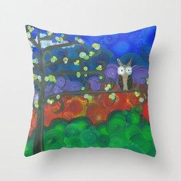 Art by MiMi Stirn - Owl Singles #339 Throw Pillow