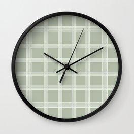 Grid on a Grey Background Wall Clock