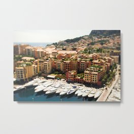 Monte Carlo Yacht's And City Metal Print