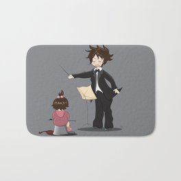 The little conductor Bath Mat