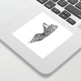 Fingerprint Silhouette Portrait No.2 Sticker