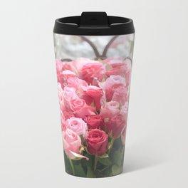 Roses Metal Travel Mug