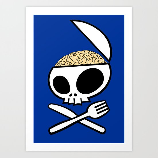 Zombie nation meal time Art Print