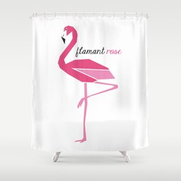 Flamant rose Shower Curtain
