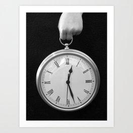 Holding Time Art Print