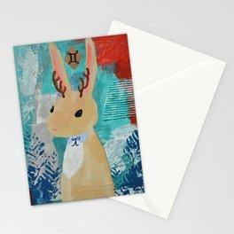 Gemini Jackalope Girl Stationery Cards