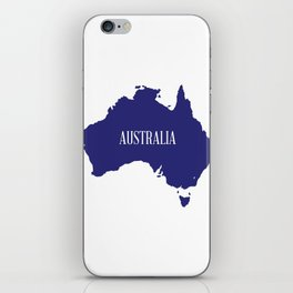 Australia Map Silhouette iPhone Skin