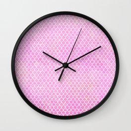 Pink Glitter Mermaid's Tail Wall Clock
