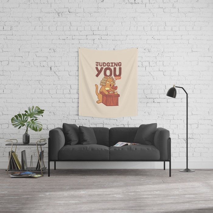 I'm Judging You Cat T-Shirt Wall Tapestry