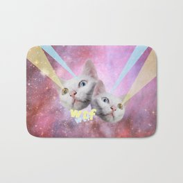 WTF Laser Cats Bath Mat
