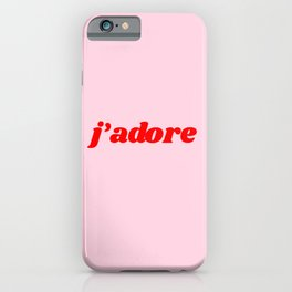 j'adore iPhone Case