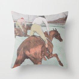 Henri Toulouse Lautrec / The Jockey Throw Pillow