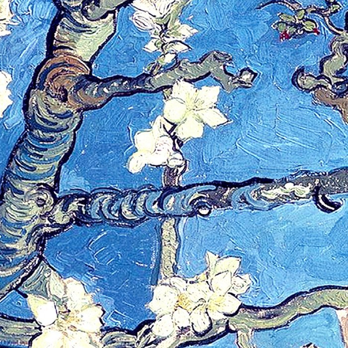 Vincent Van Gogh Almond Blossoms. Sky Blue Leggings