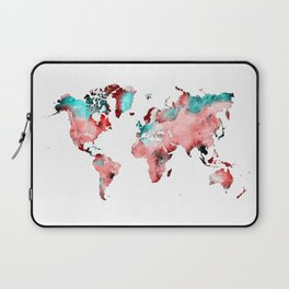 world map 72 Laptop Sleeve