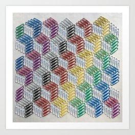 Clip Cubes Art Print