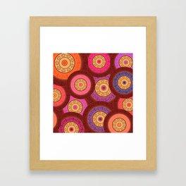 Ethnic Mandala Pattern Framed Art Print