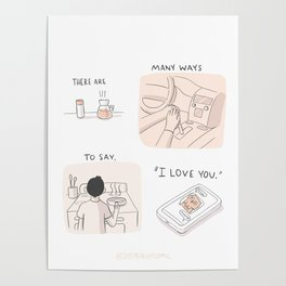 """Many Ways to Say """"I love you."""" Poster"""