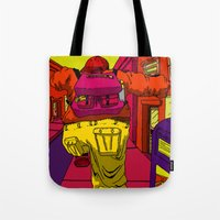 runner Tote Bags featuring Runner by Brenton Morgenstern