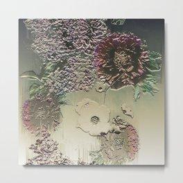 Metallic Botany Metal Print