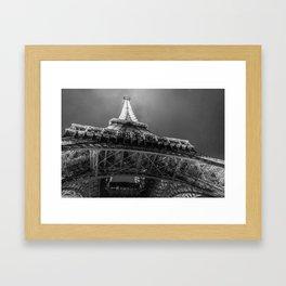Eiffel Tower 2 (Black and White) Framed Art Print