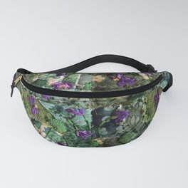 Violets in my head Fanny Pack