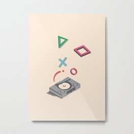 ElectroVideo PlayStation (grey) Metal Print