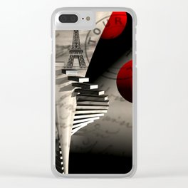 when I lived in Paris Clear iPhone Case