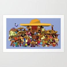 Guacamelee Peeps Art Print