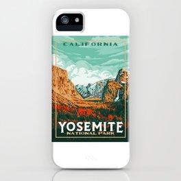 Yosemite National Park Original WPA Poster Vintage Style  iPhone Case