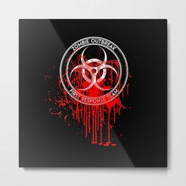 Zombie Outbreak First Response Team Metal Print