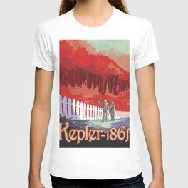 Retro Space Poster - kepler T-shirt