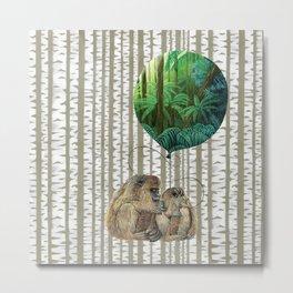 Monkey Balloon Dreams Metal Print