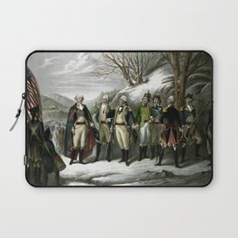 Washington and His Generals Laptop Sleeve