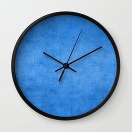"""Exotic Moroccan Indigo Blue Burlap Texture"" Wall Clock"