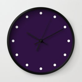Dots Purple Wall Clock