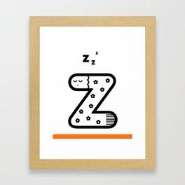 ABC: Z Framed Art Print