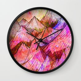 Peaks of Colours Wall Clock