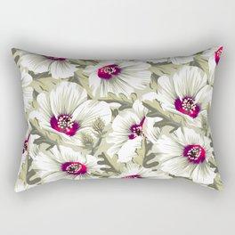 New Zealand Hibiscus Floral Print (Day) Rectangular Pillow