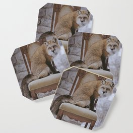 Fox on a Throne Coaster