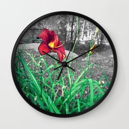 Fire Lily Wall Clock