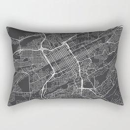 Birmingham Map, USA - Gray Rectangular Pillow