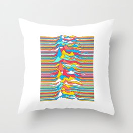 Unknown Colors Throw Pillow