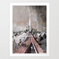 Paris d'avenir 2 Art Print