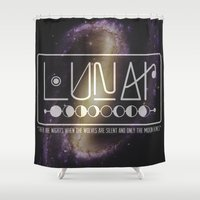 lunar Shower Curtains featuring Lunar by Nate Compton