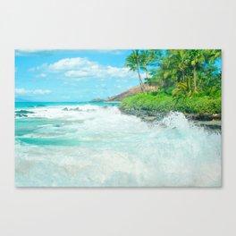 Aloha mai e Pā'ako Beach Mākena Maui Hawaii Canvas Print