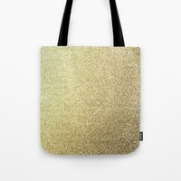 gold glitter Tote Bags featuring gold glitter by lamottedesign