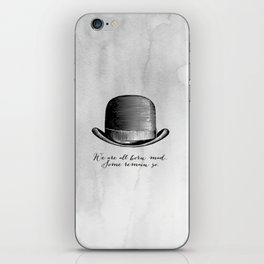 Waiting for Godot - We Are All Born Mad iPhone Skin